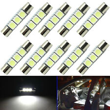 10X Pure White Festoon 29mm-31mm Fuse 5050 3SMD SunVisor Vanity Mirror LED Light
