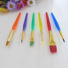 6x Cake Icing Decor Painting Brushes Fondant Dusting Sugar Craft DIY Tool Set Q4
