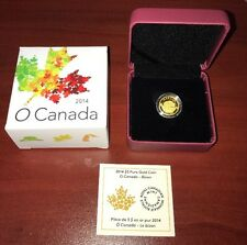 2014 $5 Pure Gold Coin O Canada Bison ONLY 4,000 99.99% Pure Royal Canadian Mint