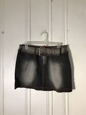 DOLL HOUSE WOMENS DENIM SKIRT SIZE 9/10 BLACK