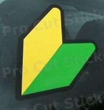 75 mm (7.5 mm) X 3 Jdm Wakaba Hoja Vinilo coche Stickers calcomanías de ventana de parachoques