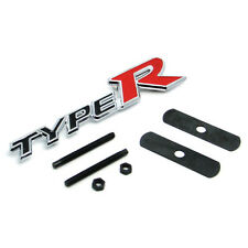 Black TYPER Metal Hood Front Grille Grill Badge Emblem For AC HO
