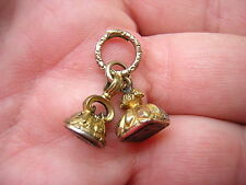 RARE ANTIQUE FANCY ORNATE VICTORIAN GOLD CARVED WATCH FOB SEALS STAMPS CHARMS