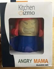 Angry Mama Microwave Cleaner New In Box Blue Base Red Hair Kitchen Gizmo