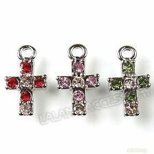 18x Wholesale Antique Silver Mixed Cross Charms Pendants Fit Necklaces 142022