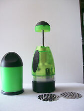 Food Chopper Press Grater Multipurpose Green Black Total Vision
