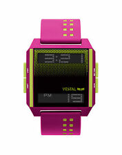 NEW VESTAL DIGICHORD HOT PINK YELLOW SCUBA SURF SNOW SUP SPORTS WATCH