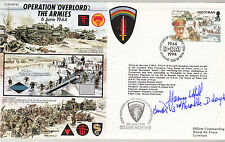 JS50 44/4C WW2 D-Day Op Overlord RAF cover signed Brigadier Hill DSO** MC