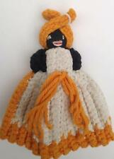 Vintage Black Mammy Potholder Cover Cozy Doll Crochet African American Cotton