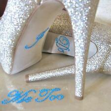 Me Too&I Do Diamante Crystal Rhinestone Wedding Shoe Sticker Decal Applique Post
