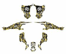 CAN AM DS 450 graphics sticker kit  Yellow Digital Camo Free Custom Service