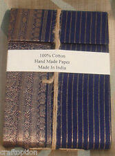 Sari cloth cover journal diary with embeded flower leaves hand made paper India
