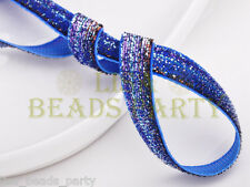 "New 5yards 3/8"" 10mm Bling Ribbon Bows Wedding Party Decoration Sew Blue&Purple"