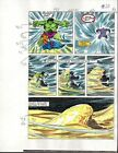 Original 1980's Marvel Comics Hulk 309 color guide art page 20: Sal Buscema/1985