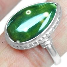 5.13 Grams Fine 925 Sterling Silver High Quality 8 US Ocean Jasper Rings Jewelry