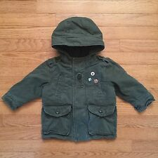 BABY GAP OLIVE GREEN Fleece JACKET BOYS TODDLER, Size 12-18 months, NEW