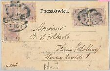 POLAND Polska -  POSTAL HISTORY: POSTCARD from Biecz to NETHERLANDS 1903