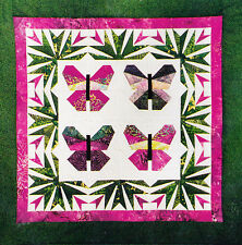 PATTERN - Bali Butterfly  - foundation paper pieced wall quilt PATTERN