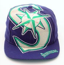 Vintage SEATTLE MARINERS The Game BIG LOGO Snapback Hat NW Sonics Seahawks Cap
