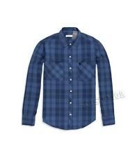 New Womens Abercrombie & Fitch Shirt Button Down Long Sleeve Blue Plaid M