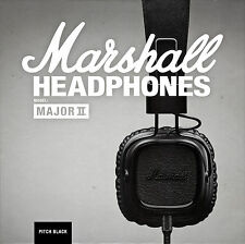 Marshall Major II Pitch Black With Microphone & Remote On-Ear Stereo Headphone