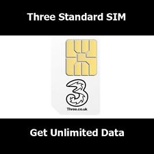New SIM Card On Three Network For All Smart Phones - A Standard Micro Nano SIM