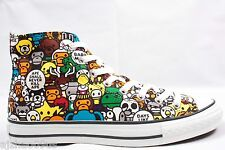 New A BATHING APE Baby Milo Play Land Mens Sneakers MultiColor 100%AUTH 9.5 RARE