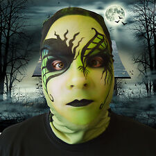 3D EFFECT GREEN WITCH DESIGN  FACE SKIN LYCRA FACE MASK HALLOWEEN L&S PRINTS
