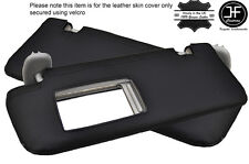 BLACK STITCHING 2X SUN VISORS LEATHER COVERS FITS TOYOTA PRIUS 2010-2015