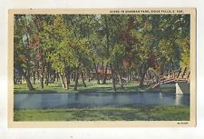 Scene in Sherman Park SIOUX FALLS SD Vintage South Dakota Postcard