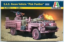 """Italeri 6501 S.A.S. Recon Vehicle """"Pink Panther"""" Land Rover 1/35 Model Kit NIB"""