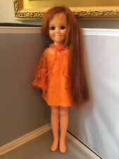 """18"""" Beautiful Vintage 1969 Ideal Toy CHRISSY DOLL Red Hair Grows Original Outfit"""