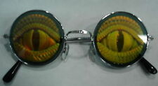 Lizard Eye Hologram Sunglasses Poker Glasses Shades Round John Lennon Texas