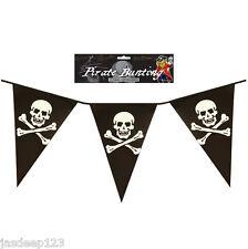 3,7 m Pirata Bandera Guirnalda Fiesta Calavera y Calavera y tibias cruzadas