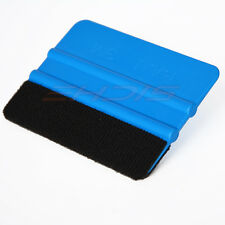 Blue Felt Edge Squeegee for Window Tint Installation No Scratch Wrap Application