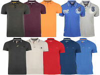 New Crosshatch Mens Pique Jersey Short  Sleeve Polo Top T Shirts  New XS-XL