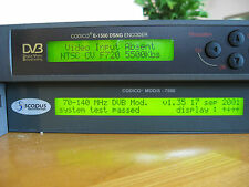 Scopus DVB Cidico Encoder E-1500 & Mod/S 7500 Satellite Modulator