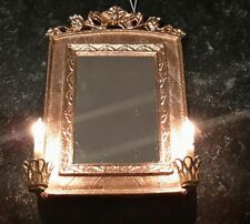 Dolls house twin candle mirror wall light