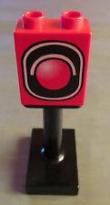 Lego Duplo  Ampel mit Ständer Motivstein rot  für Eisenbahn Traffic light 3353