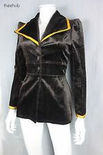 Very Fab Vtg 70s Roxy Glam London Boutique Velvet Wing Collar Gerry Finn Jacket