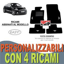 TAPPETINI AUTO PER MINI COOPER COUPE' R58 MOQUETTE E FONDO GOMMA + 4 RICAMI EASY