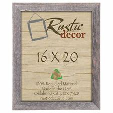 "16x20  - 2"" Wide Signature Reclaimed Rustic Barn Wood Wall Frame"