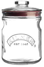 Kilner Push Top Storage Cookie Biscuit Pasta Cereals Airtight Glass Jar 1 lt