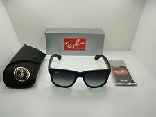 RAY-BAN JUSTIN SUNGLASSES RB4165 601/8G BLACK FRAME/GRAY GRADIENT LENS 55MM