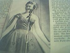 ephemera 1950 article singer rosemarie trew recovers from polio