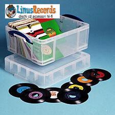 CONTENITORE TRASPARENTE PER 200 45 GIRI OPPURE 44 DVD  OPPURE 93 CD