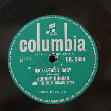 78rpm JOHNNY DUNCAN & BLUE GRASS BOYS rock-a-billy baby / last train to fernando