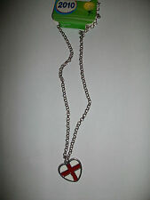 England St George Cross Heart Necklace New