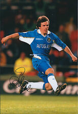Gianfranco ZOLA SIGNED COA Autograph Photo AFTAL CHELSEA Legend AUTHENTIC