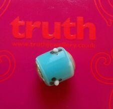 Genuine TRUTH silver PK 925 blue with black flower bracelet charm Bead